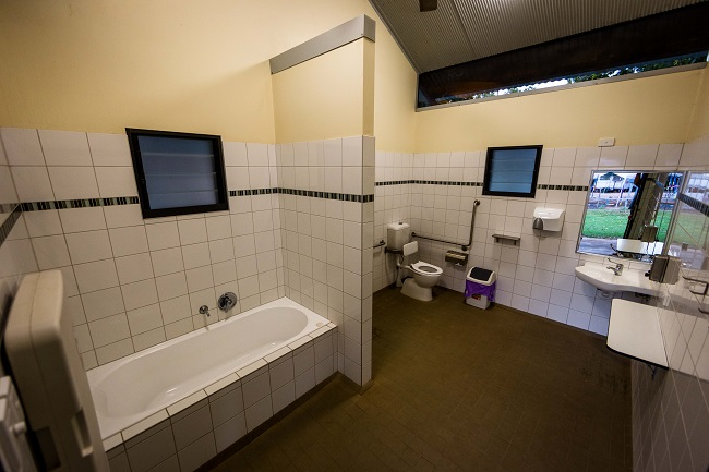 Modern Bathrooms with disability access at Kimberleyland