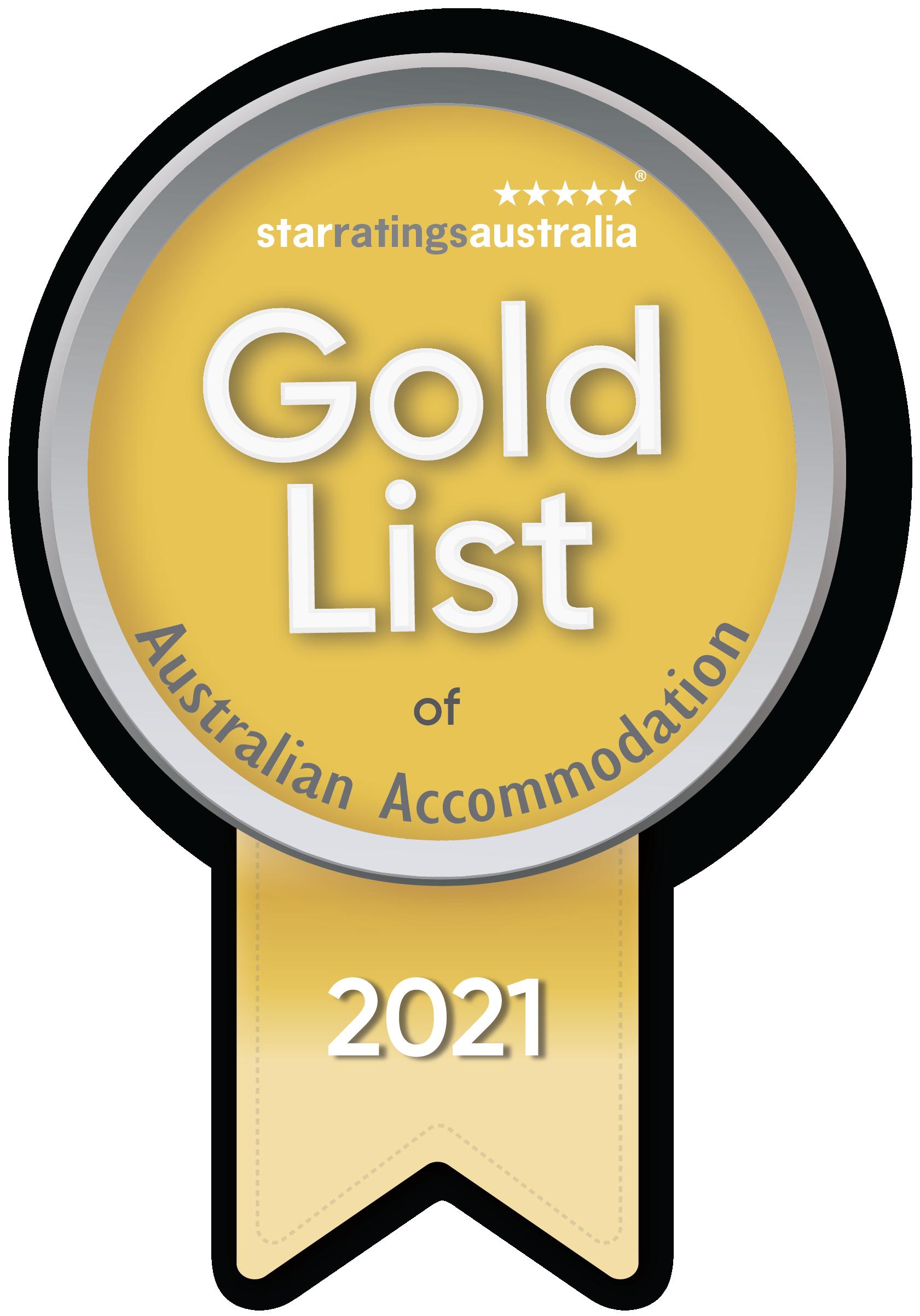 2021 Gold List Western Australia Accommodation