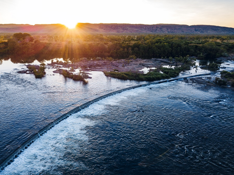 Ivanhoe Crossing Kununurra Birds Eye View