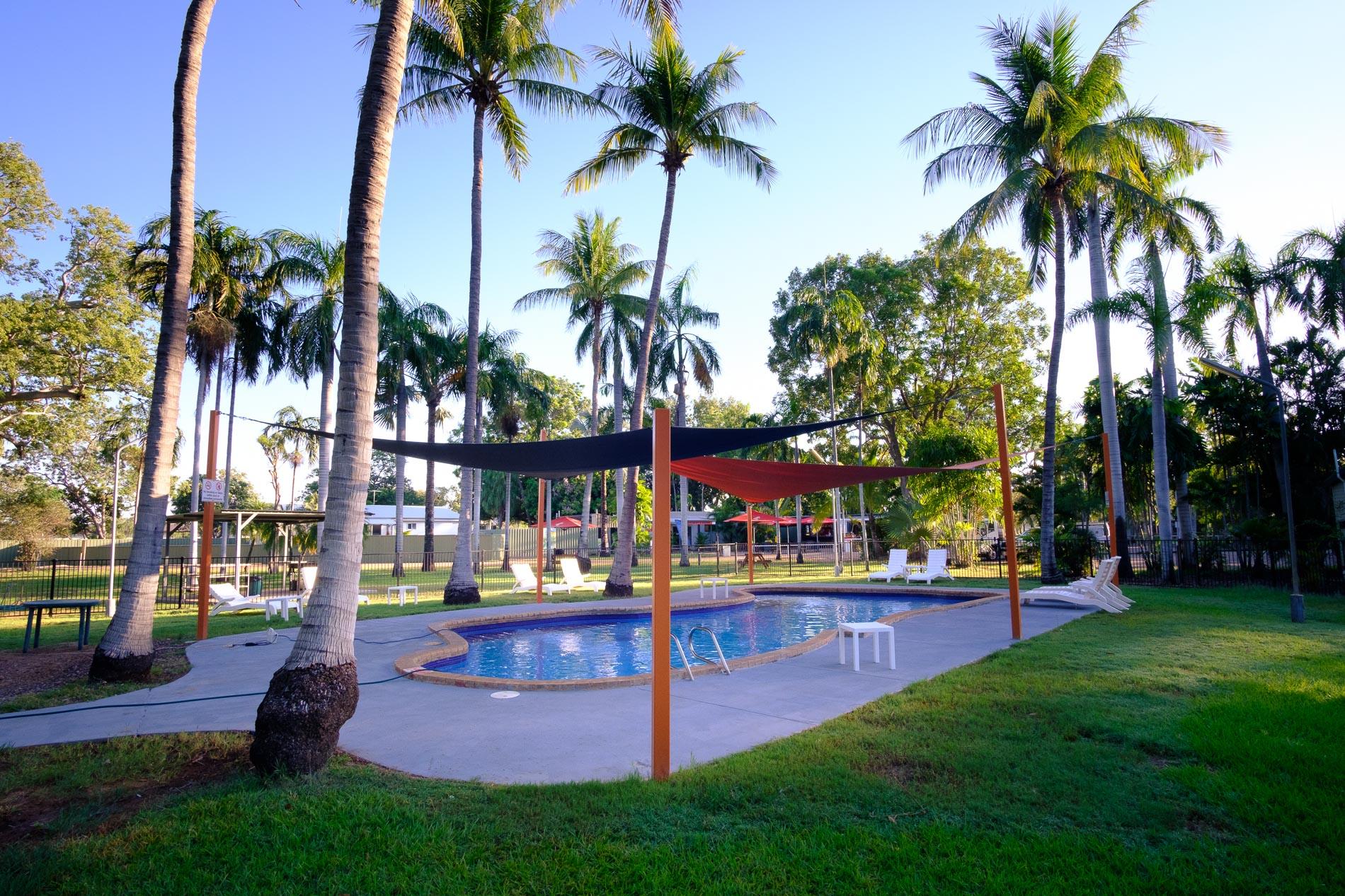 Blue Coconut Palm Pool at Kimberleyland