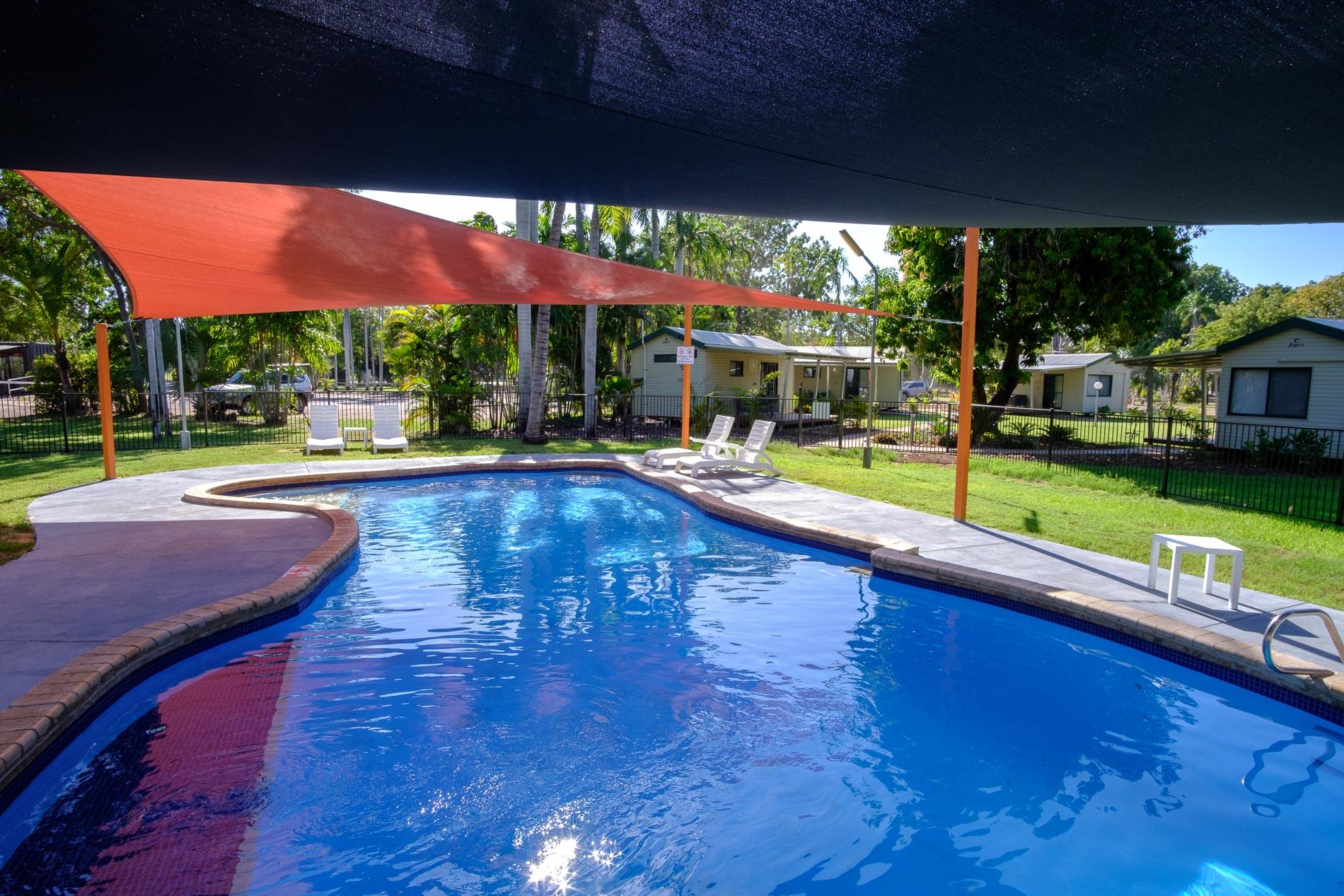 Sparkling Blue Pool at Kimberleyland