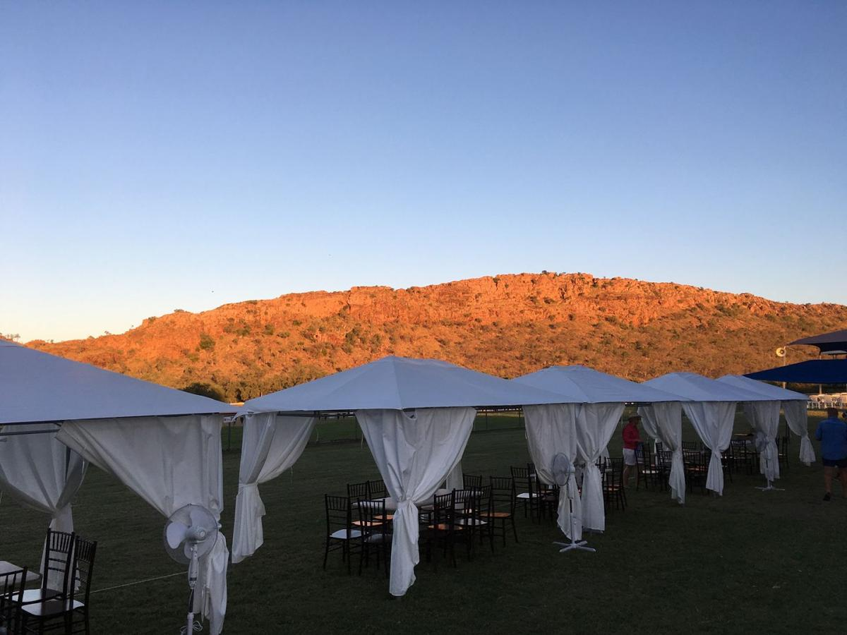 Marquees at the Kununurra Ladies Day Turf Club