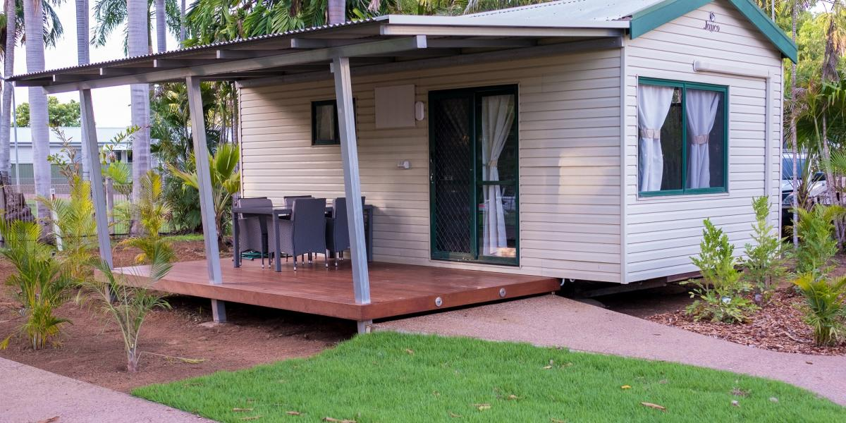 Poolside Cabins at Kimberleyland Waterfront Holiday Park Kununurra Western Australia
