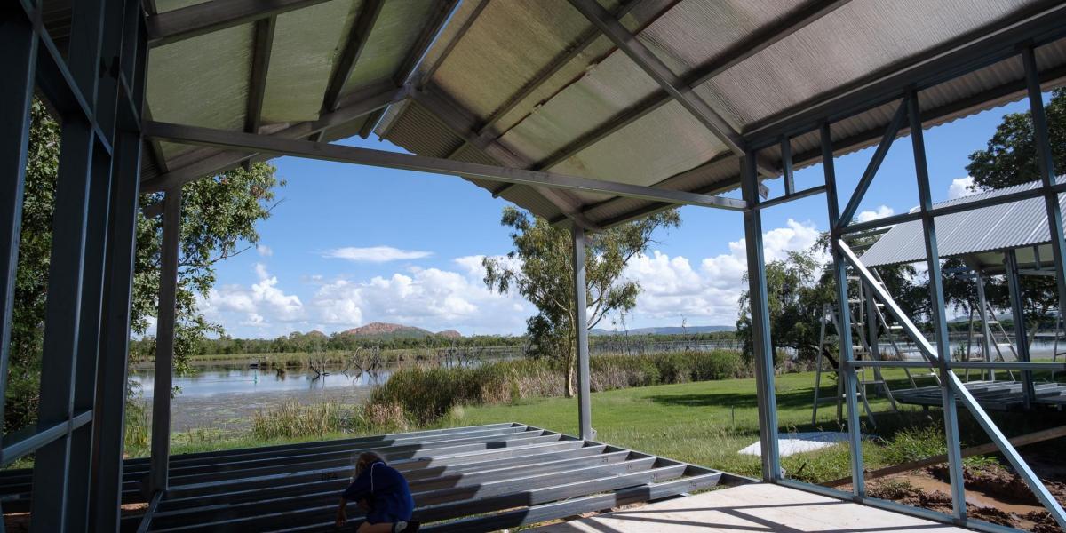 Cabins in progress at Kimberleyland