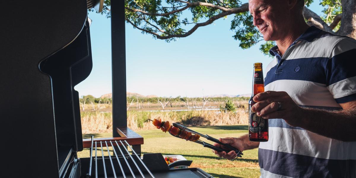 Private BBQ Deluxe Cabins at Kimberleyland Holiday Park Kununurra