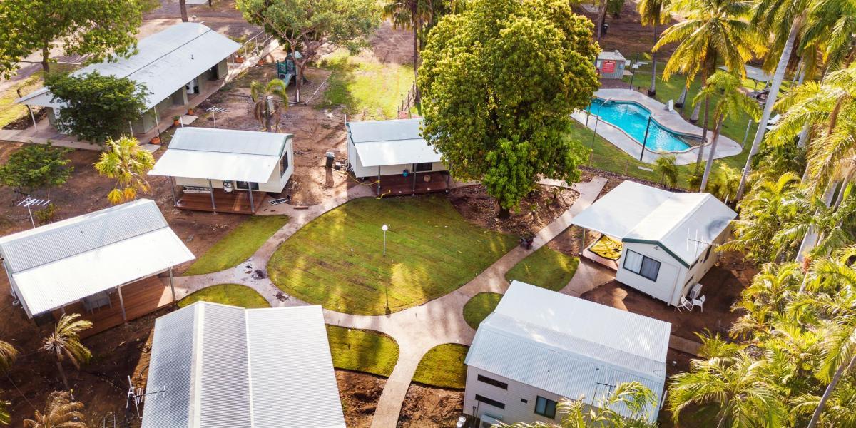 Aerial view of Kimberleyland Cabin Accommodation