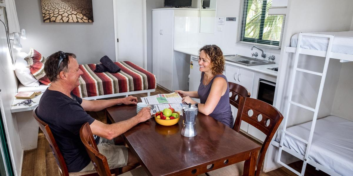 Couples in Kimberleyland Waterfront cabins
