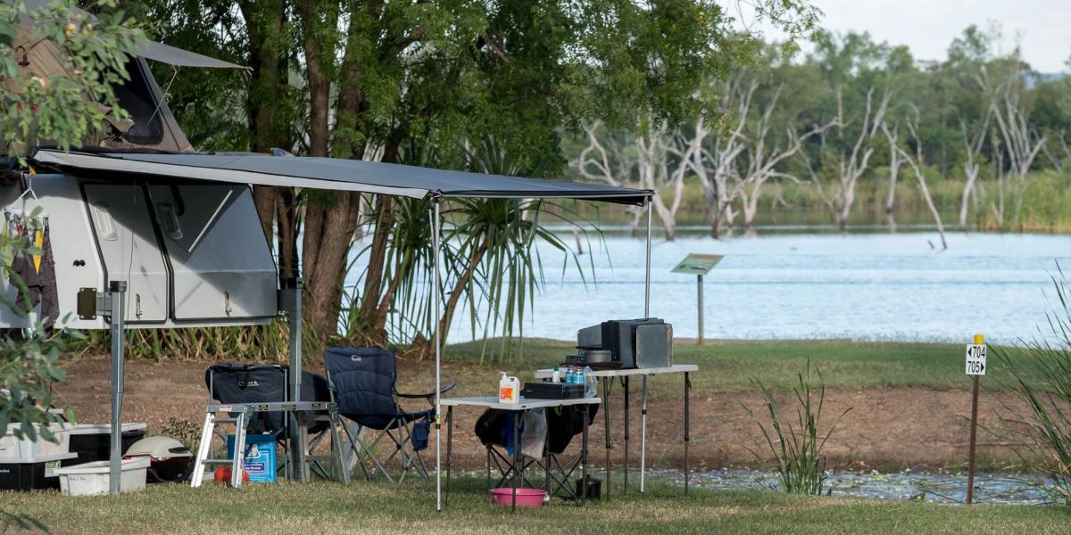 Camping at Kimberleyland