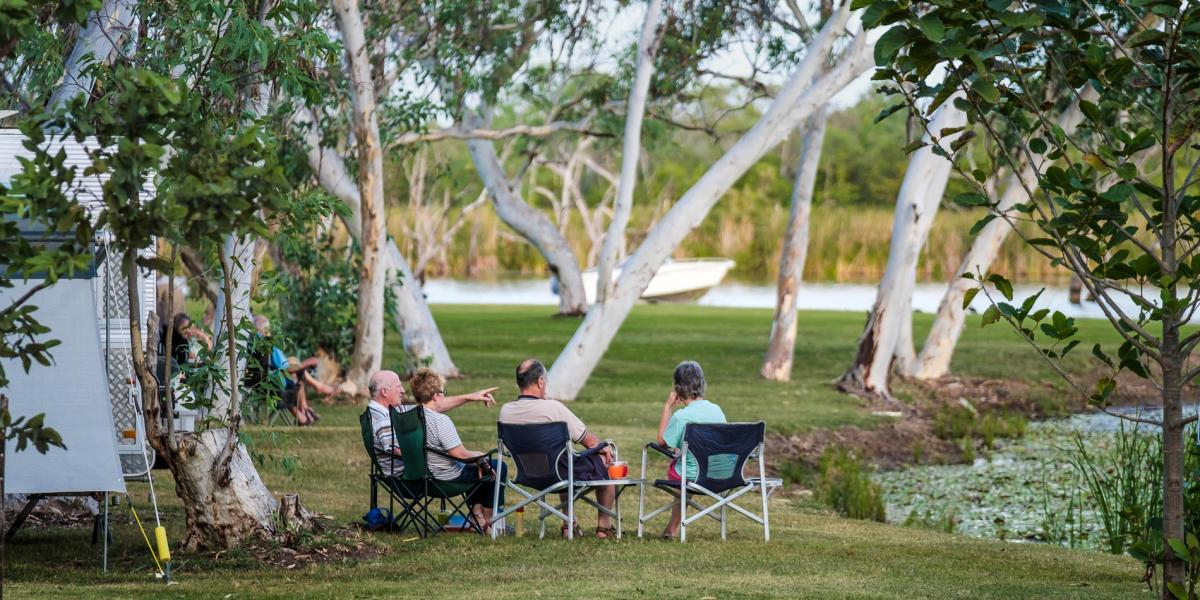 Absolute Waterfront Caravan Sites at Kimberleyland Kununurra