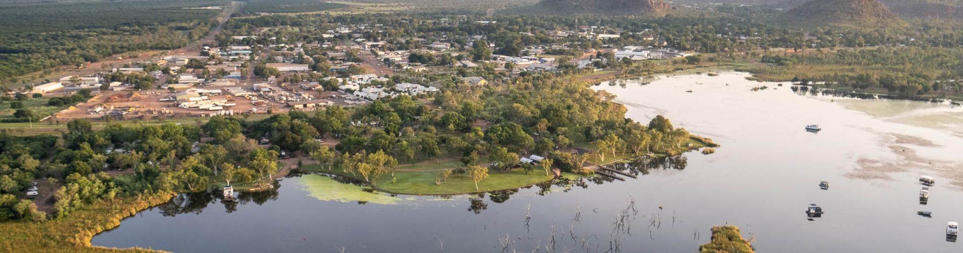 Kimberleyland with Kununurra in the background