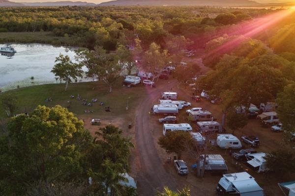 Aerial view Sites at Kimberleyland Caravan Park