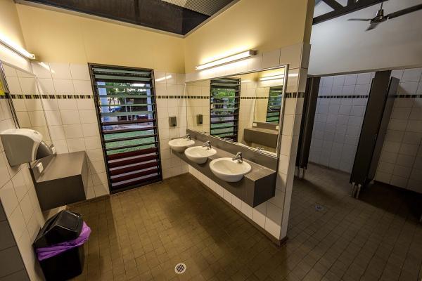 Clean, Modern, Fresh Bathrooms