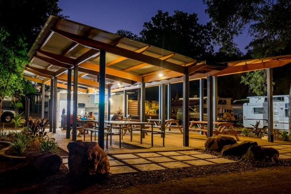 Modern Clean Camp Kitchen Dining Entertainment