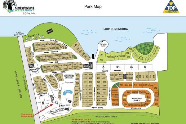 Kimberleyland Park Map