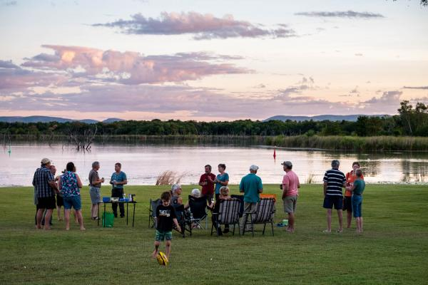 Social Sundowners at Lily Creek Lagoon Kimberleyland
