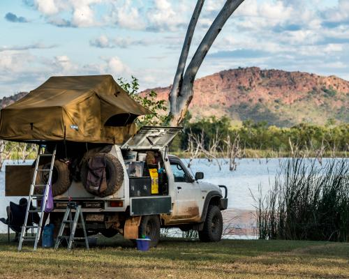 Picturesque Waterside Camp Grounds at Kimberleyland