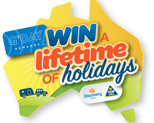 Competition to win a lifetime of holidays with G'Day Rewards, Top Parks and Discovery Parks