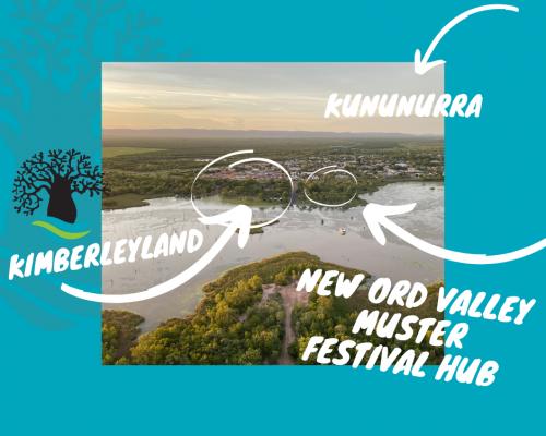 Ord Valley Festival Hug next to Kimberleyland